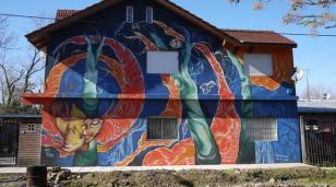 Un nuevo mural embellece Tesei