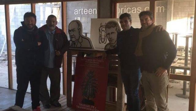 Zabaleta con el artista plástico Alejandro Marmo