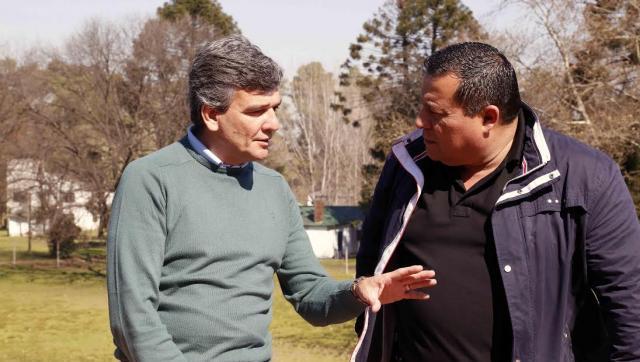 Zabaleta recibió al secretario del sindicato de sanidad Jorge D'Andrea