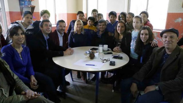 Zabaleta recibió a la diputada Mónica López junto a Menéndez y el legislador Quinteros