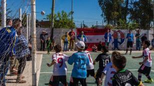 Jornada de liga de fútbol infantil