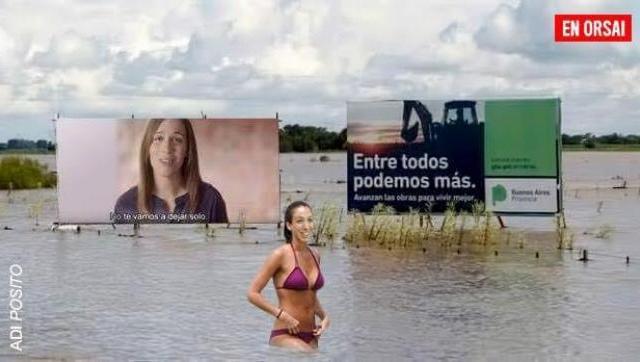La Provincia con inundaciones, ¿Vidal? de vacaciones...
