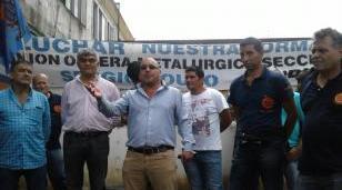La UOM Regional salió a luchar junto a los trabajadores metalúrgicos despedidos en Hurlingham