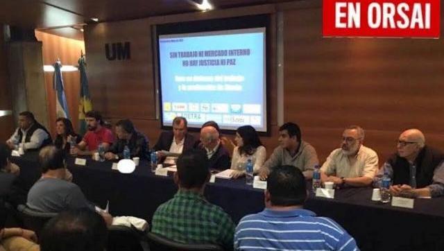 """Foro local en defensa del Trabajo y la Producción presentó el documento """"Sin trabajo ni mercado interno no hay justicia ni paz"""""""
