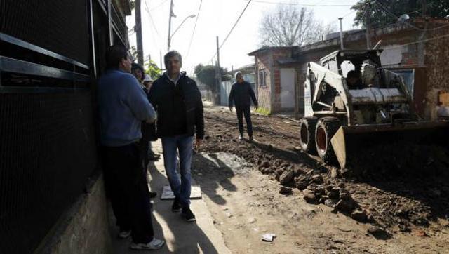 Avanza la obra de urbanización en el barrio San Jorge