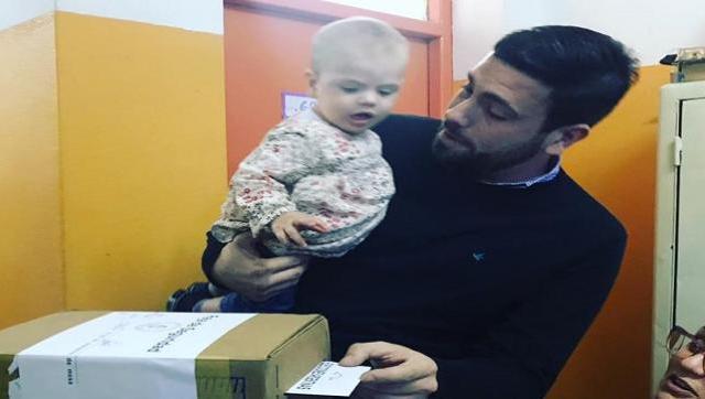 El voto del candidato PRO, Lucas Delfino