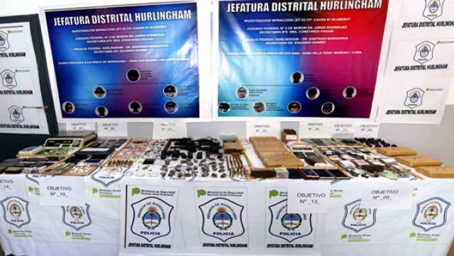 18 allanamientos contra el narcotráfico