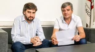 Zabaleta con el presidente del Concejo Deliberante Martín Rodríguez