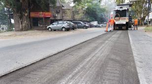 Avanza la obra de repavimentación de la Avenida Vergara en Hurlingham