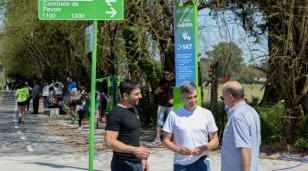 Zabaleta visitó el nuevo corredor aeróbico de las calles O'Brien y Combate de Pavón