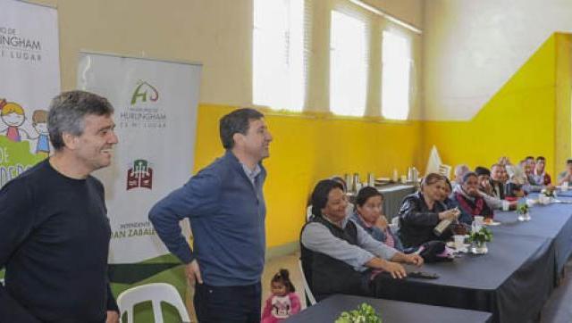 Zabaleta y el diputado Arroyo se reunieron con referentes de merenderos de Hurlingham