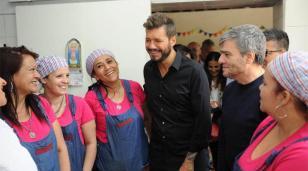 Zabaleta y Marcelo Tinelli presentaron el plan contra el hambre en Hurlingham