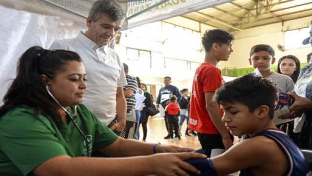 Revisación médica a 3500 chicos de la Liga Infantil de Fútbol de Hurlingham