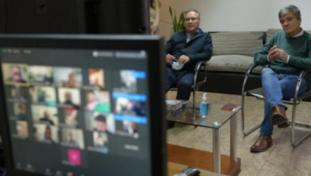 Zabaleta  y Descalzo realizaron un encuentro virtual con periodistas