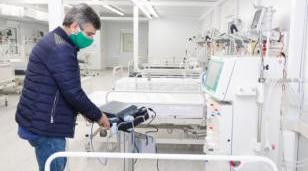 Equipamiento sanitario en el nuevo Hospital Modular de Hurlingham