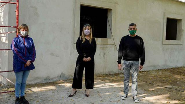 "Zabaleta y Di Tullio recorrieron las obras de ampliación del Hogar de Abrigo ""Eva Duarte"""